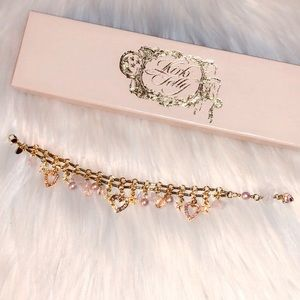 🆕KIRKS FOLLY Heart Charm Bracelet